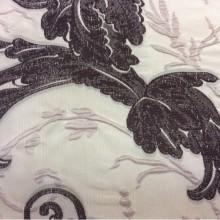 Шикарная итальянская ткань в стиле барокко Botticelli 11. Европа, Италия, портьерная, очень дорогая. На светлом фоне шоколадно-розовый орнамент