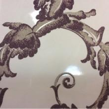 Элитный тюль из Италии Botticelli 12. Италия, Европа, тонкий тюль. На прозрачном фоне аметистовый принт с блеском