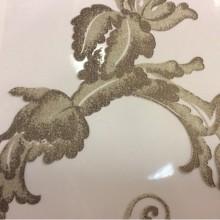 Купить ткань в стиле барокко в интернет-магазине Botticelli 16. Италия, Европа, тонкая тюль. На прозрачном фоне золотисто-шоколадный принт с блеском