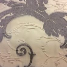 Ткань барокко, Италия, вискоза Botticelli 19. Европа, портьерная. На кремовом фоне серый орнамент