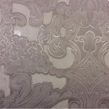 Красивый тюль в стиле барокко Belvedere 01. Италия, Европа, тонкий тюль из вискозы и органзы. Розовато-серебристый орнамент