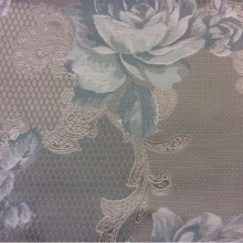 Хлопковый гобелен 2325/41. Испания, Серый, цвет морской волны орнамент