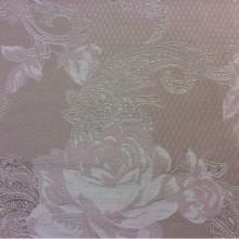 Портьерная ткань, хлопковый гобелен 2325/23. Испания, Серый с бледно-розовым орнамент