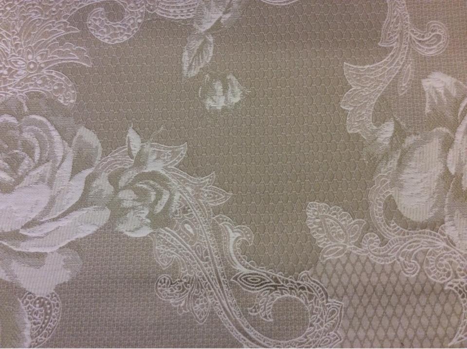 Элитная ткань для штор, хлопковый гобелен 2325/21. Европа, Испания. Бежево-песочный оттенок