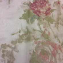 Органза, тюль в стиле прованс Rose Bordo. Турция. Розы, бледно-бордовый