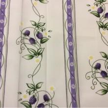Немецкая ткань для штор Ragusa Line 85, цвет Violet 90. Европа, Германия. Ежевика, сиреневый принт