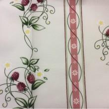 Немецкая портьерная ткань для штор Ragusa Line 85, цвет Vino 31. Европа, Германия. Малина, малиновый принт