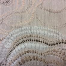 Ткань из вискозы Gia 1. Бежево-песочные розы ( абстракция) в стиле ар-нуво. Турция.