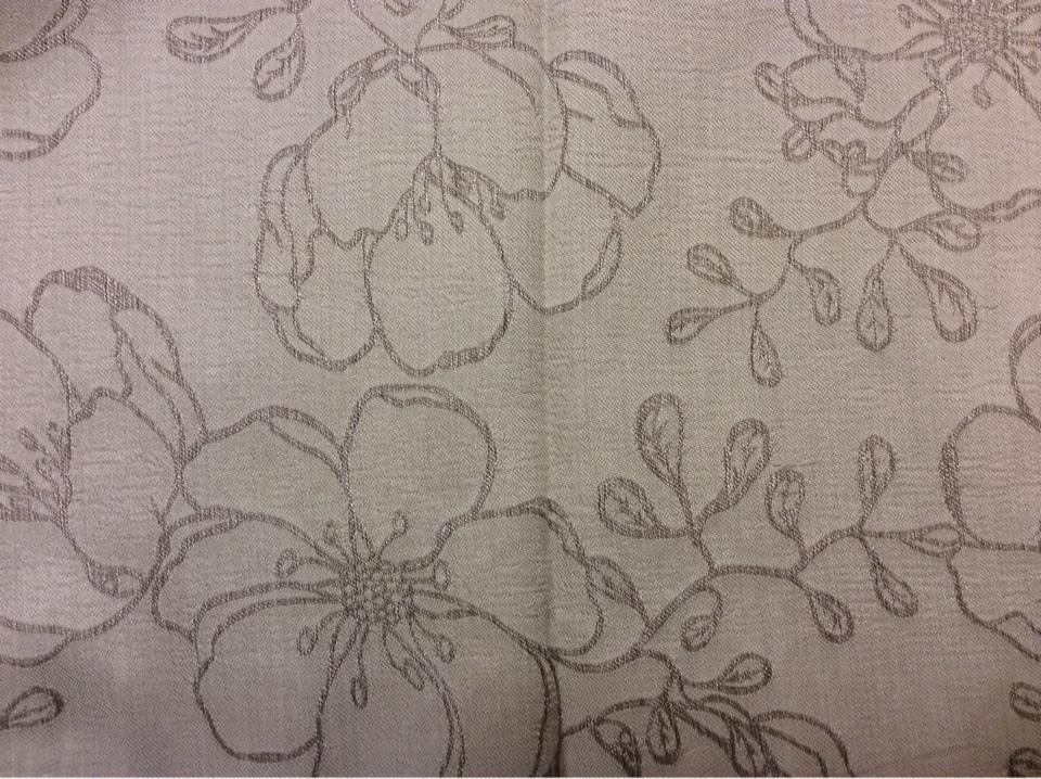 Портьерная ткань атлас с вышивкой Fiora цвет Perla 05. Европа, Испания.  Серебристо-серый фон ( ткань двухсторонняя) в стиле арт-нуво заказать