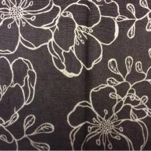 Ткань из атласа с вышивкой Fiora цвет Brown 07. Испания, 100% полиэстер. Золотисто-шоколадный фон ( ткань двухсторонняя) в стиле ар-нуво