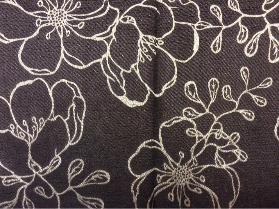 Ткань из атласа с вышивкой Fiora цвет Brown 07. Испания, 100% полиэстер. Золотисто-шоколадный фон ( ткань двухсторонняя) в стиле ар-нуво купить