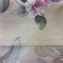 Хлопковая ткань из Турции Zambak 69. На золотистом фоне лилии в стиле прованс