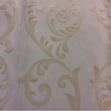 Шикарная тюль из органзы Mestra 12. Турция, стиль ткани арт-нуво. На прозрачном фоне кремовые завитки