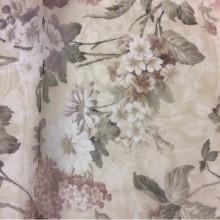 Органза, тюль в стиле прованс Paradise Suit 1034. Турция, полиэстер. На прозрачном фоне бордовые цветы
