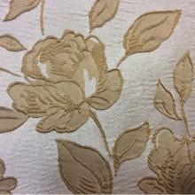 Английская ткань в классическом стиле из атласа, вискоза 5166 V.007. Европа, Англия, портьерная. На светлом фоне золотистые цветы