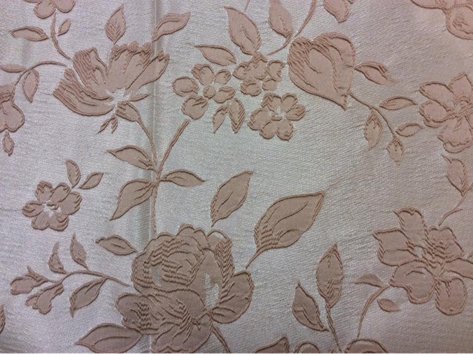Европейская ткань для штор из атласа 5166 V.004. Англия, атлас, полиэстер. На светлом фоне бледно-розовые розы