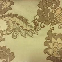 Плотная ткань с вышивкой в классическом стиле Varese, цвет Feather Green. Европа, Бельгия, портьерная ткань. На оливковом фоне бронзовые цветы, пейсли