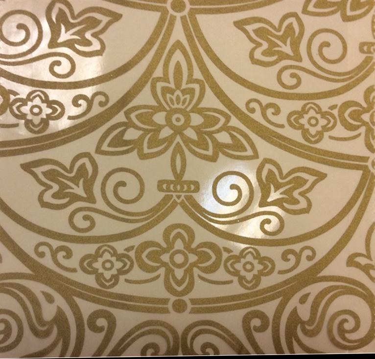 Тюль в стиле барокко, вискоза, органза Belvedere 14. Италия, Европа, тонкий тюль для штор. На прозрачном фоне бронзовый орнамент купить