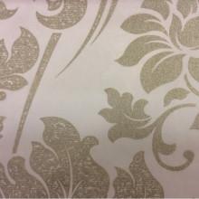 Красивый итальянский тюль в стиле барокко Belvedere 26. Европа, Италия, тонкий тюль. На прозрачном фоне серебристый орнамент (цветы)