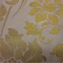 Элитный тюль для штор в стиле барокко Belvedere 27. Европа, Италия, тонкий тюль. На чёрном фоне бронзовый орнамент (цветы)