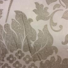 Очень красивая тюлевая ткань для штор Belvedere 28. Италия, Европа, тонкий тюль в стиле барокко. На прозрачном фоне орнамент титанового оттенка (цветы)