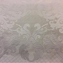 Однотонный атлас с атласной обработкой низа (высота орнамента 40 см) 2418/10. Италия, Европа, портьерная ткань. Молочный фон ткани