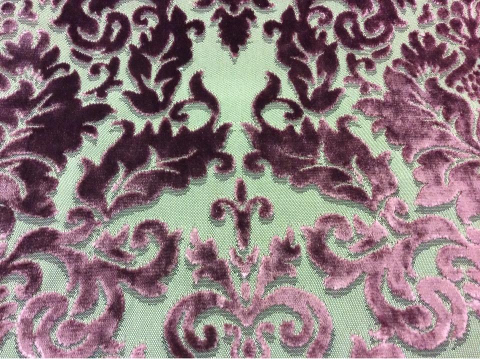 Красивая портьерная набивная ткань 2386/36. Италия, Европа, портьерная ткань в стиле барокко, классика). На титановом фоне тёмно-малиновый бархат купить