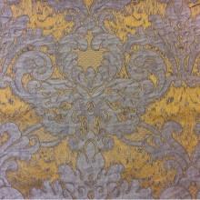 Вискоза, ткань с горчичным фоном и титановым орнаментом 2389/22. Европа, Италия, портьерная ткань для штор.