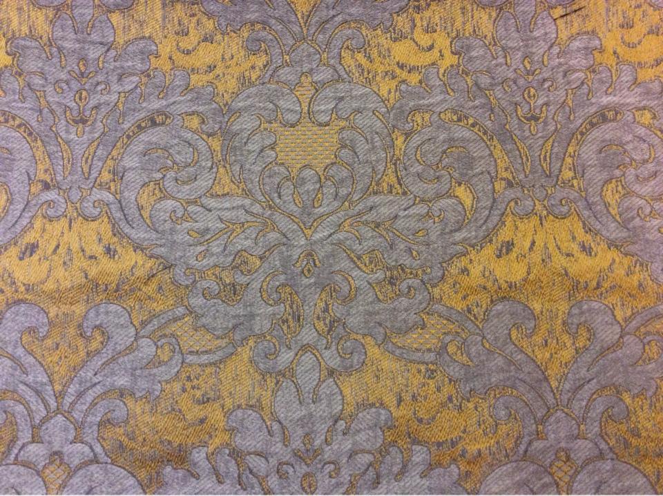 Вискоза, ткань с горчичным фоном и титановым орнаментом 2389/22. Европа, Италия, портьерная ткань для штор. купить, заказать в интернет магазине