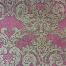 Итальянская ткань для спальни, гостиной комнаты 2389/36. Европа, Италия, портьерная. Тёмно-малиновый фон, титановый орнамент