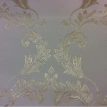 Атласная ткань ванильного цвета с золотистым орнаментом 2375/12. Франция, Европа, портьерная.