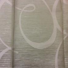 Атлас из Турции в стиле арт-Деко Des: J — 12122 col: 7814. Турция, портьерная ткань для штор. Бледно-зелёный фон с гибкими линиями