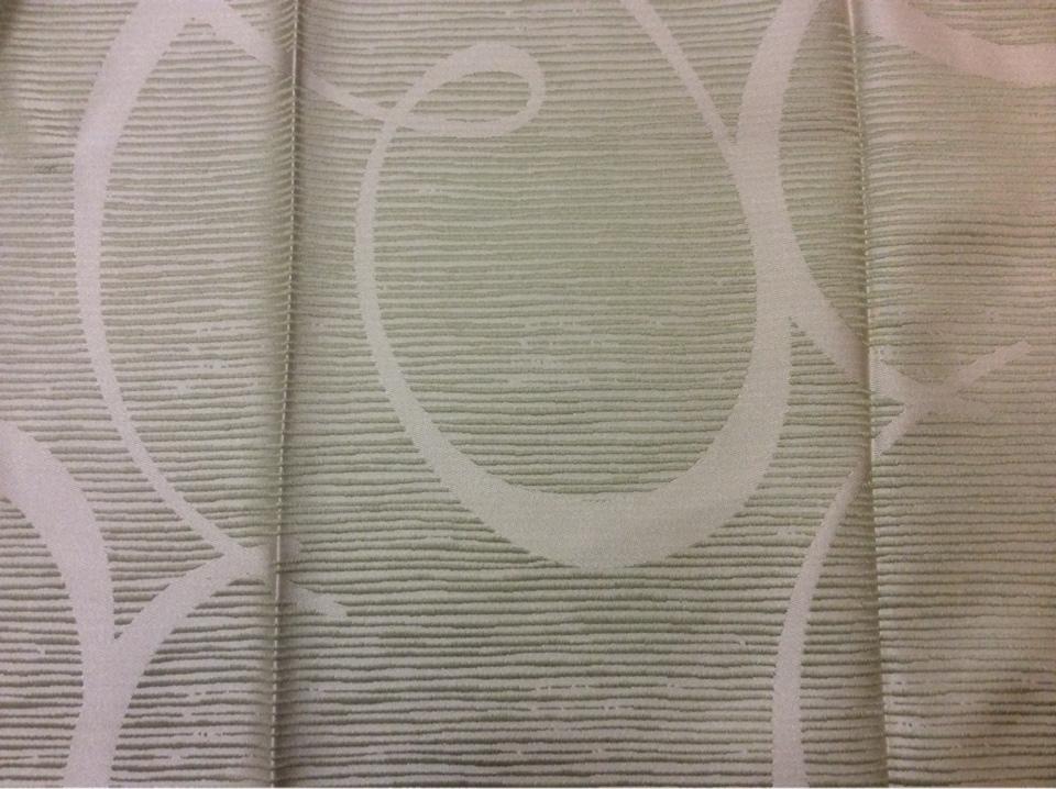 Атлас из Турции в стиле арт-Деко Des: J - 12122 col: 7814. Турция, портьерная ткань для штор. Бледно-зелёный фон с гибкими линиями купить