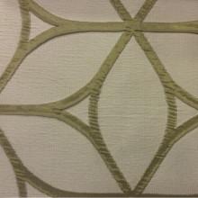 Красивая портьерная, жатая ткань с эффектом 3д Alicante 26. Европа, Италия, портьерная. Серовато-зелёный фон