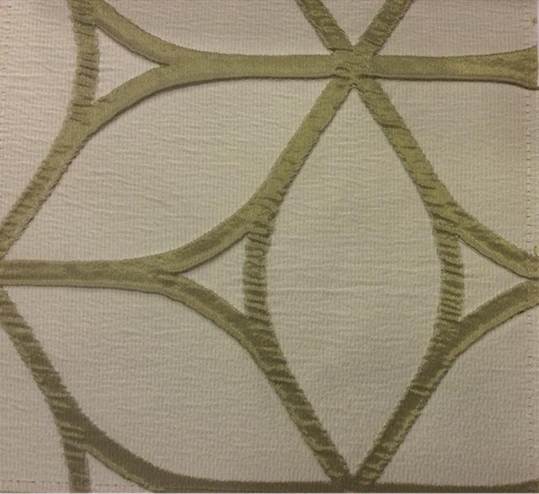 Красивая портьерная, жатая ткань с эффектом 3д Alicante 26. Европа, Италия, портьерная. Серовато-зелёный фон купить в интернет-магазине