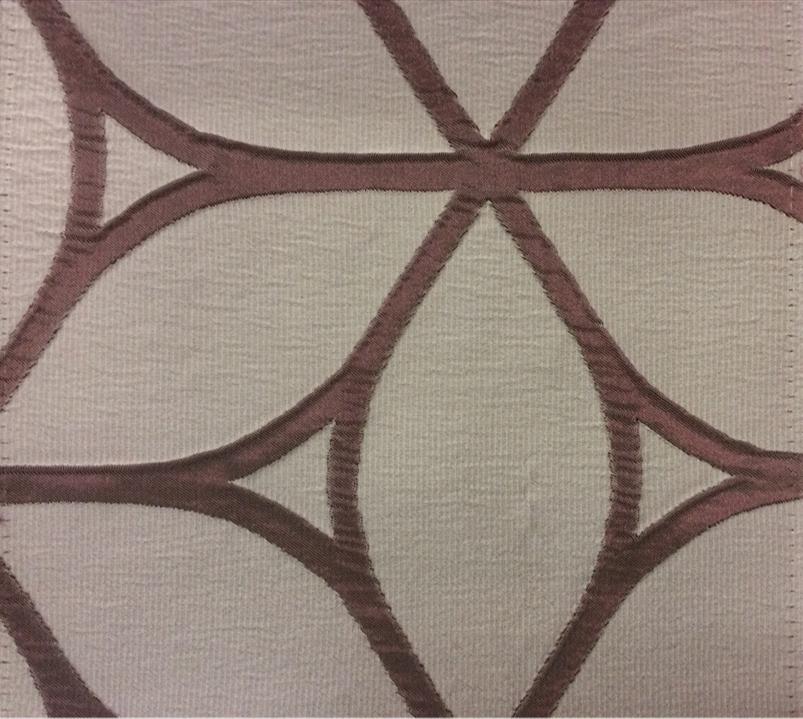 Жатая ткань с выпуклым нанесением, эффект 3D Alicante 34. Европа, Италия, портьерная ткань. Серовато-брусничный фон купить