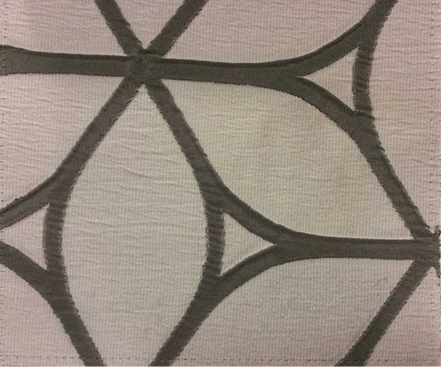 Жатая ткань с выпуклым нанесением, эффект 3D Alicante 50. Европа, Италия, портьерная ткань. Светло-серый цвет с тёмно-серым оттенками купить