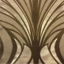 Атласная ткань с хлопковым бархатным нанесением в стиле арт-деко Trini, col 2. Турция, портьерная ткань для штор. Золотисто-карамельный орнамент