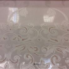 Тонкая ткань вискозной нитью Ornella 19. Италия, Европа, тонкий, прозрачный тюль для штор. На светлом фоне розоватый принт с люрексом