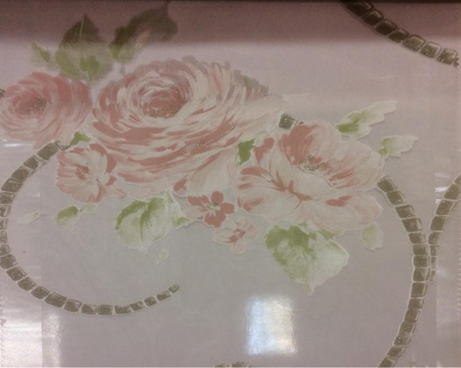 Красивый, тонкий итальянский тюль с вискозой Ornella 29. Италия, Европа, тюлевая ткань. На прозрачном фоне цветочный принт розового цвета купить в Москве