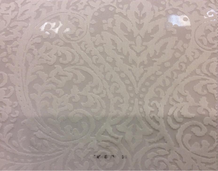 Тонкий тюль с вискозой из Италии в Москве Ornella 35. Европа, Италия, тюлевая ткань для штор. На белом фоне ажурный орнамент купить, заказать в Москве