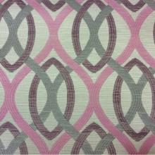 Ткань с абстрактным рисунком под рогожку с хлопковой нитью Paloma 37. Европа, Испания, портьерная ткань для штор на заказ. Абстрактные линии розового, черничного, серого оттенков