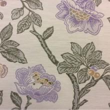 Купить ткань с крупными цветами в Москве Paloma 05. Испания, Европа, портьерная ткань для штор, занавесок. На светлом фоне цветочный орнамент