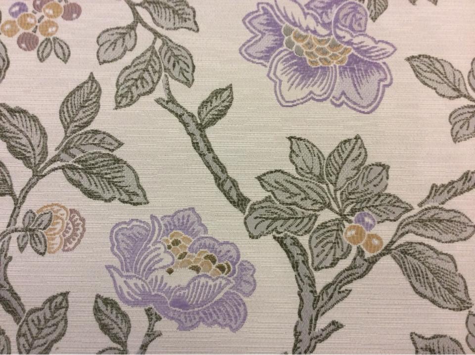 Купить ткань с крупными цветами в Москве Paloma 05. Испания, Европа, портьерная ткань для штор, занавесок. На светлом фоне цветочный орнамент купить