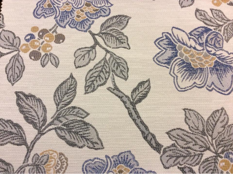 Красивая ткань с крупными цветами Paloma 19. Европа, Испания, портьерная. На светлом фоне цветочный орнамент, микс купить