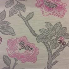 Красивая портьерная ткань с цветочками под рогожку с хлопковой нитью Paloma 40. Испания, Европа, портьерная, плотная. На светлом фоне цветочный орнамент, микс