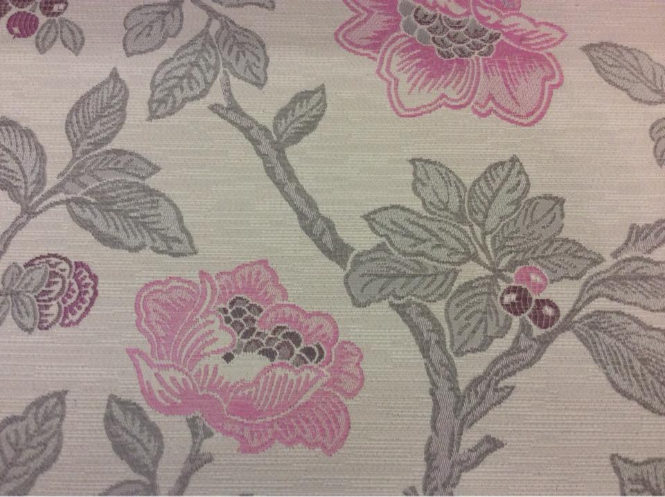Красивая портьерная ткань с цветочками под рогожку с хлопковой нитью Paloma 40. Испания, Европа, портьерная, плотная. На светлом фоне цветочный орнамент, микс купить в Москве