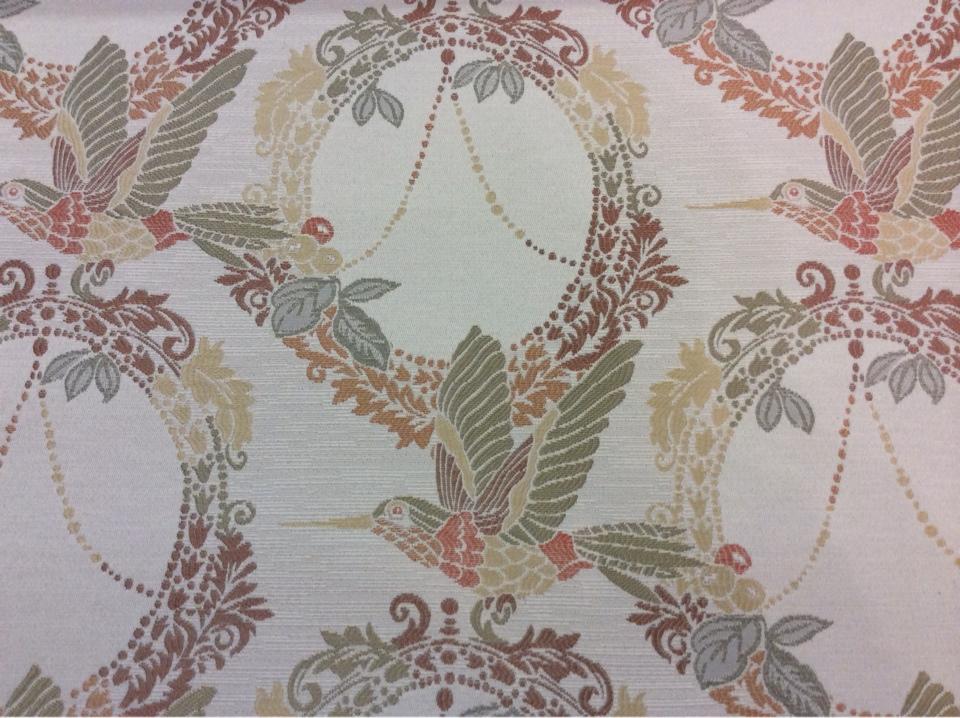 Купить ткань с птицами в Москве Paloma 13. Испания, Европа, портьерная. На светлом фоне изображение птиц, микс купить
