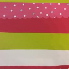 Хлопковая ткань с ярким принтом для игровой комнаты ребенка Pussycat 2. Европа, Испания, портьерная. Горизонтальные цветные полосы
