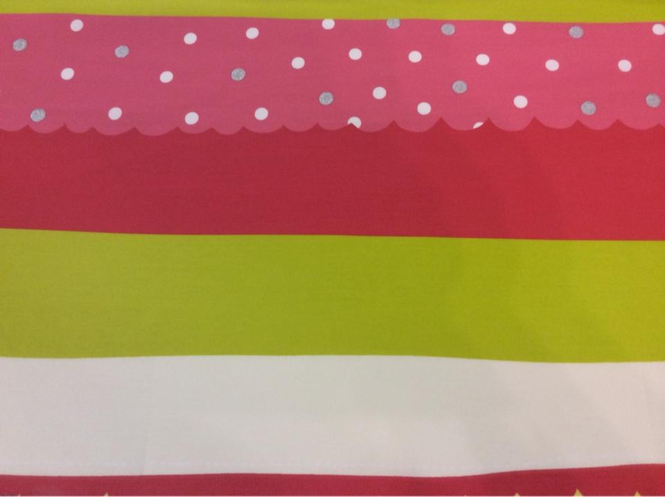 Хлопковая ткань с ярким принтом для игровой комнаты ребенка Pussycat 2. Европа, Испания, портьерная. Горизонтальные цветные полосы купить
